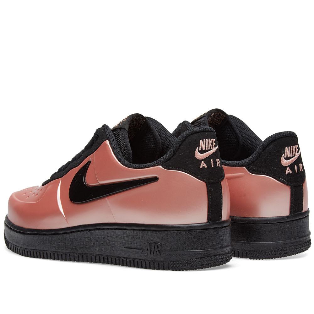 17c8fc2159e946 Nike Air Force 1 Foamposite Pro Cupsole Coral Stardust   Black