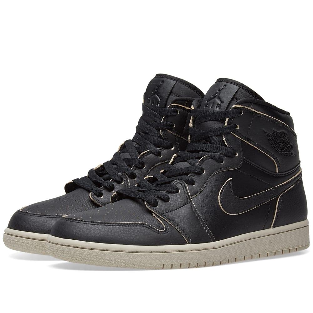 21486a67539a Air Jordan 1 Retro High Premium Black   Desert Sand