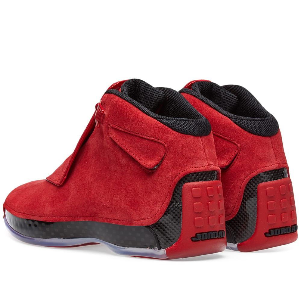 6039f1e4f812 Nike Air Jordan 18 Retro Gym Red   Black