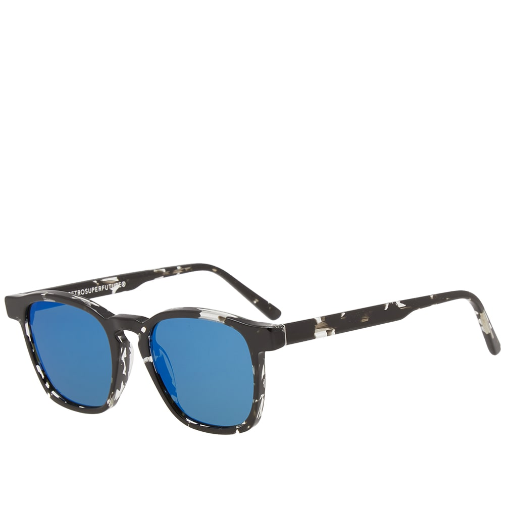 new concept df24c e8913 SUPER by RETROSUPERFUTURE Unico Sunglasses Black Ink   Blue Mirror   END.