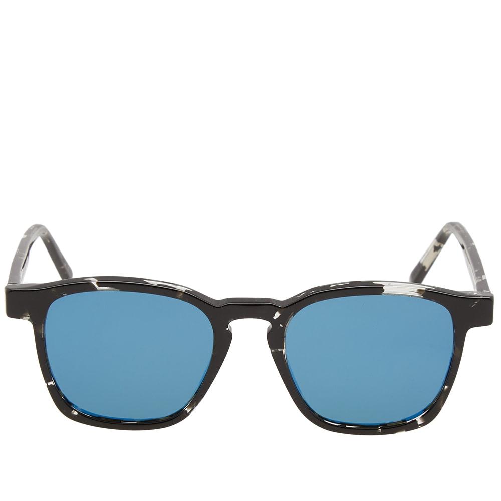 9b6caa63f782f SUPER by RETROSUPERFUTURE Unico Sunglasses Black Ink   Blue Mirror ...