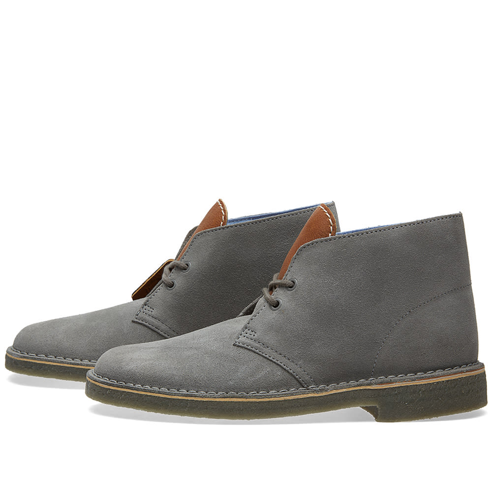 clarks originals x herschel supply co desert boot grey suede. Black Bedroom Furniture Sets. Home Design Ideas
