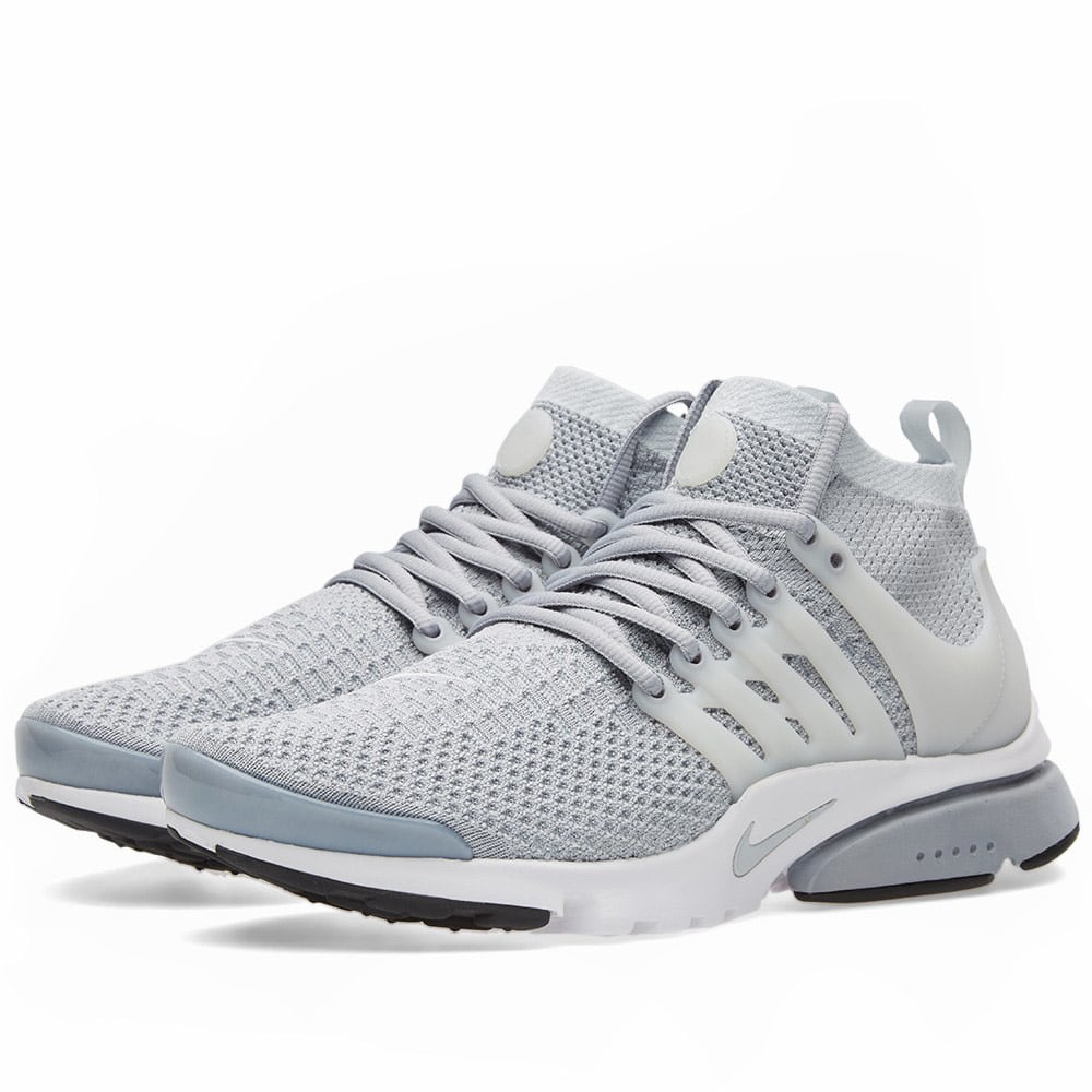 nike air presto ultra flyknit wolf grey white. Black Bedroom Furniture Sets. Home Design Ideas