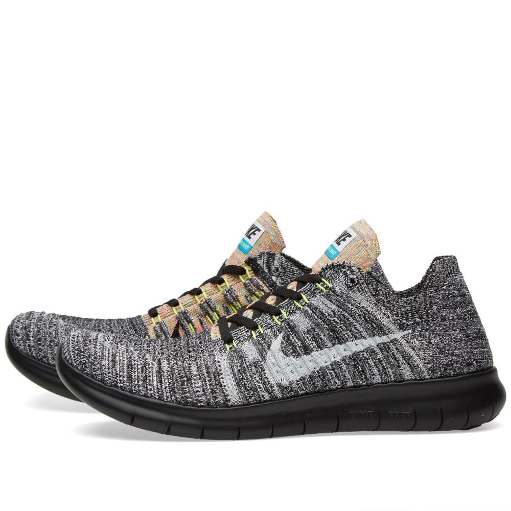 purchase cheap 7cd16 05c0a Nike Free Run Flyknit Black, White   Blue Glow   END.