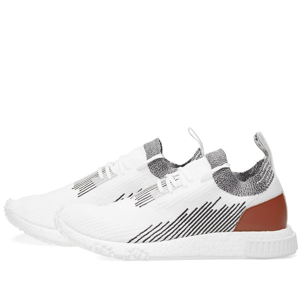b64c5192a2c3d Adidas NMD Racer Leather White   Core Black