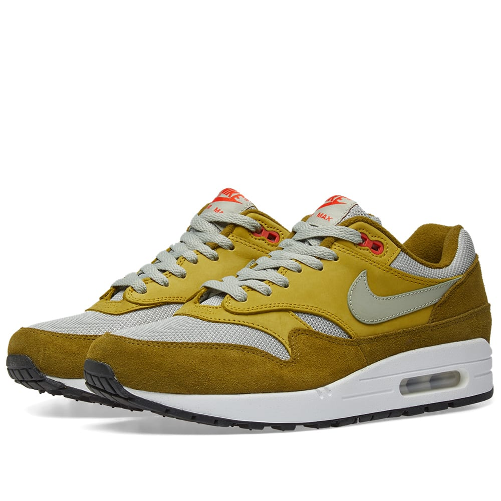 save off b5bc3 2879e Nike Air Max 1 Premium Retro Olive Flak, Spruce Fog   Peat   END.