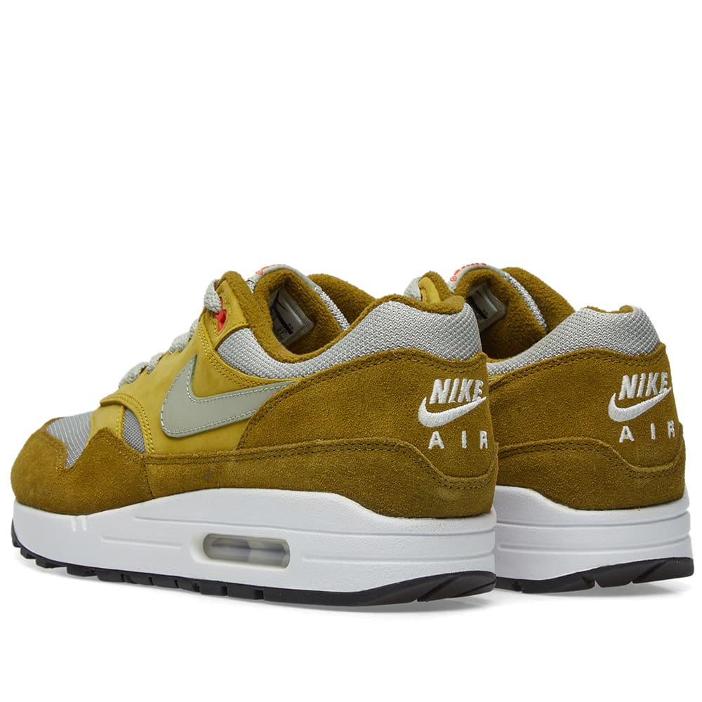 save off 9e085 76bf1 Nike Air Max 1 Premium Retro Olive Flak, Spruce Fog   Peat   END.