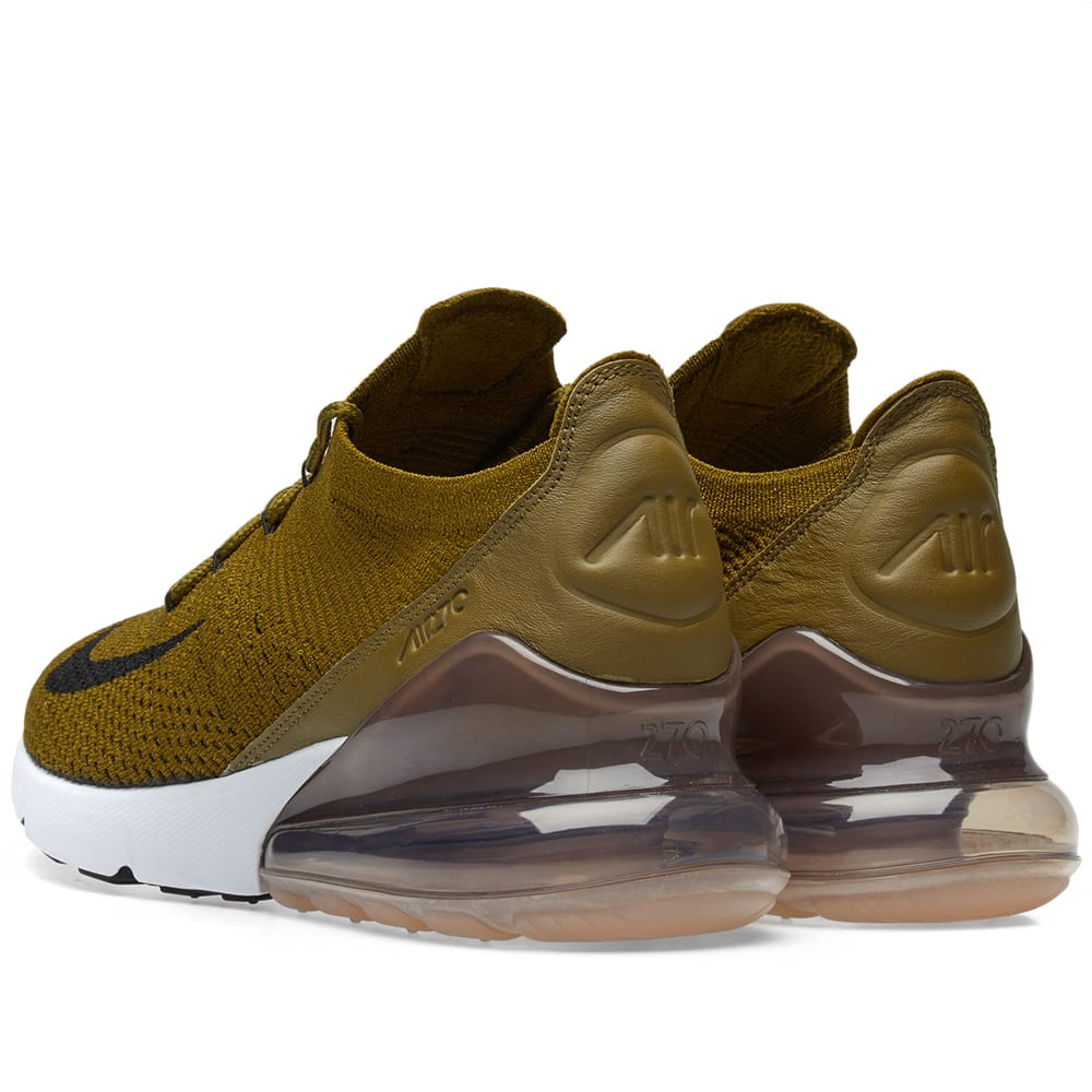 separation shoes 63358 e0282 Nike Air Max 270 Flyknit Olive Flak, Black   Sepia   END.