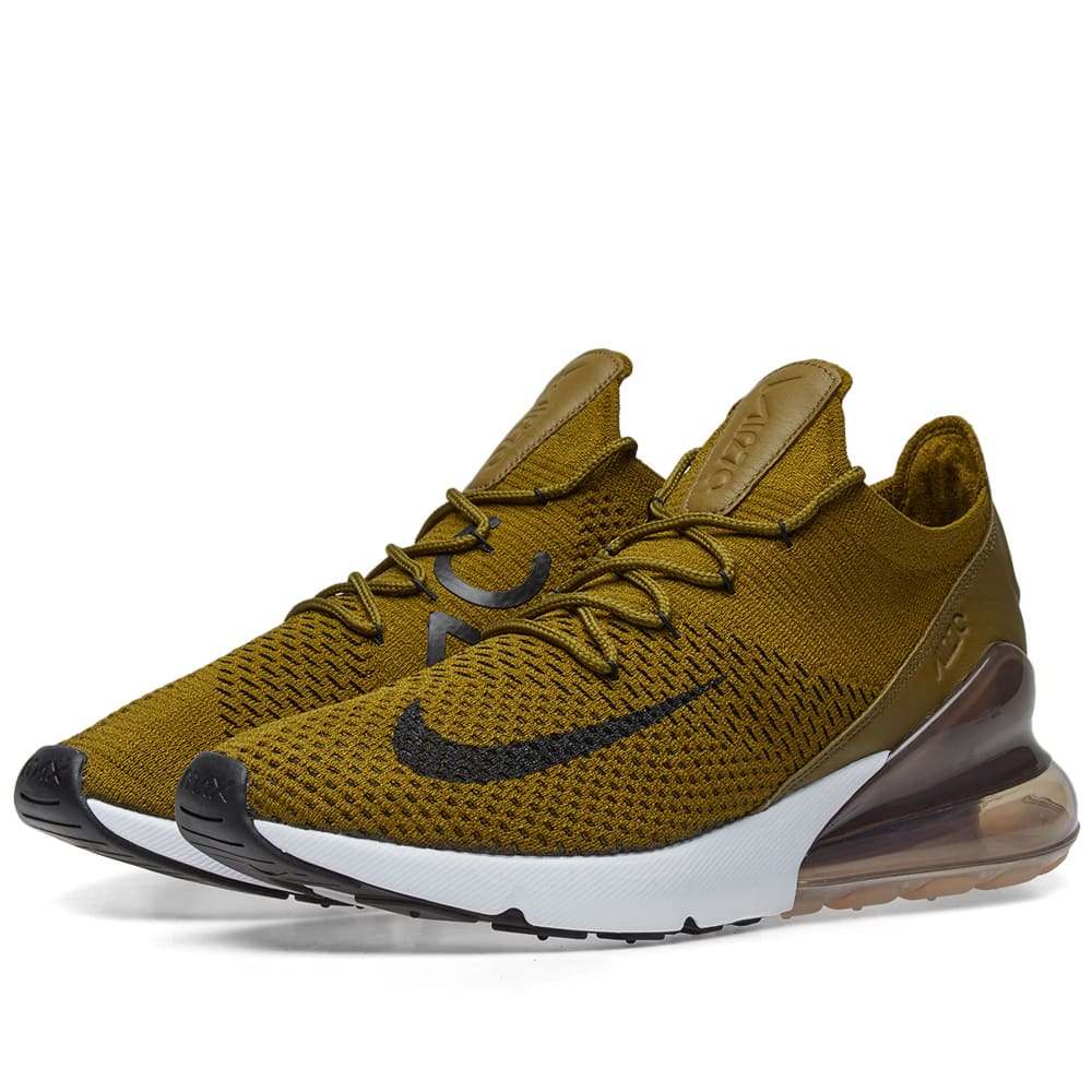 separation shoes 594f4 66d8e Nike Air Max 270 Flyknit Olive Flak, Black   Sepia   END.