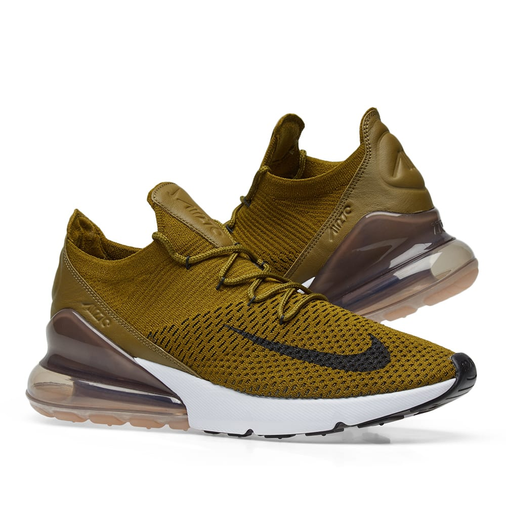 outlet store 3259e cc385 Nike Air Max 270 Flyknit. Olive Flak ...