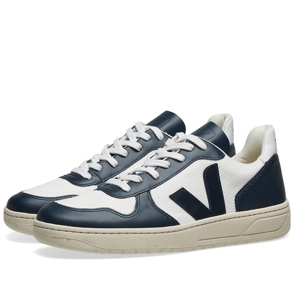 Estallar ola Regularmente  Veja V-10 Mesh Basketball Sneaker White & Navy | END.