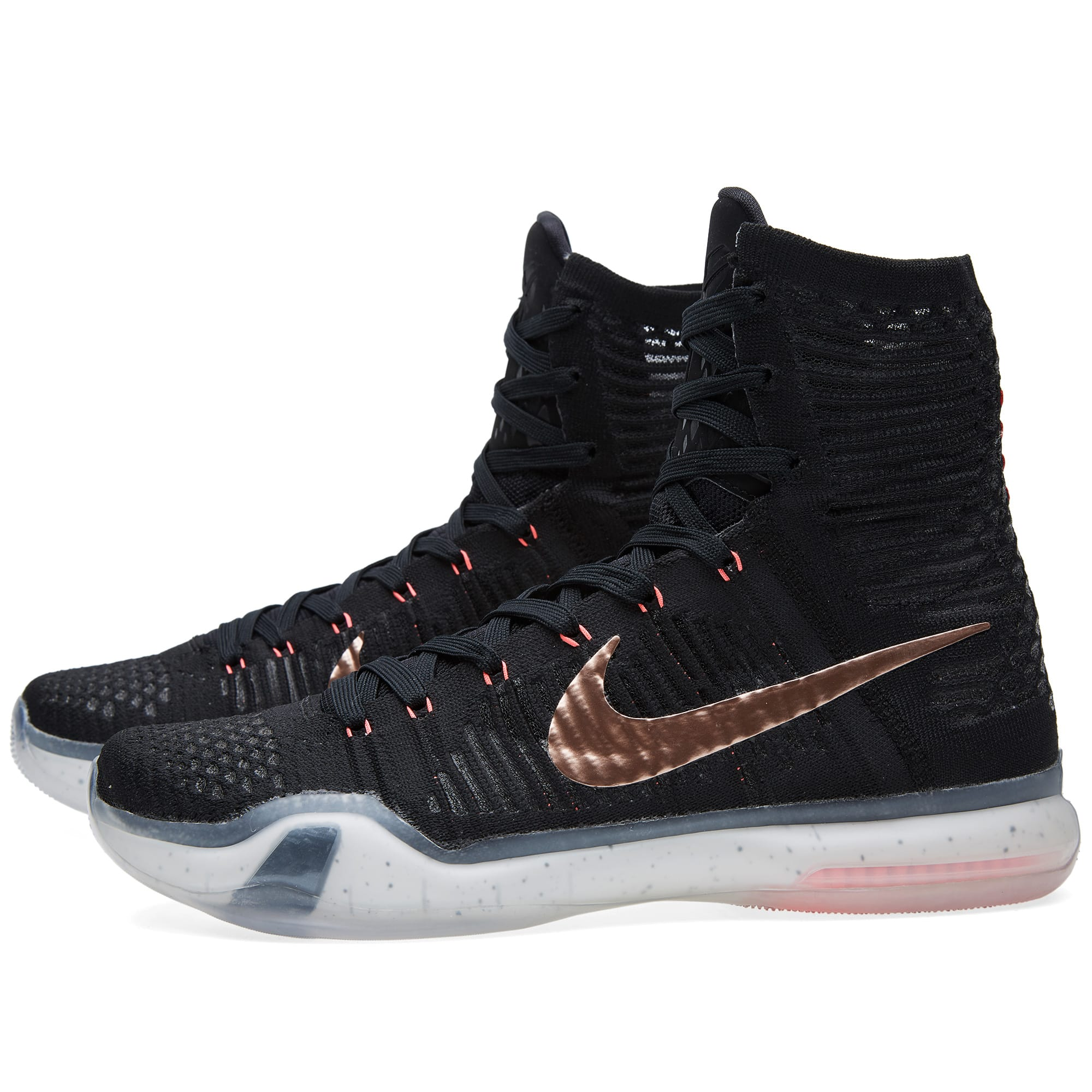 nike kobe x elite 39 rose gold 39 black metallic red bronze. Black Bedroom Furniture Sets. Home Design Ideas