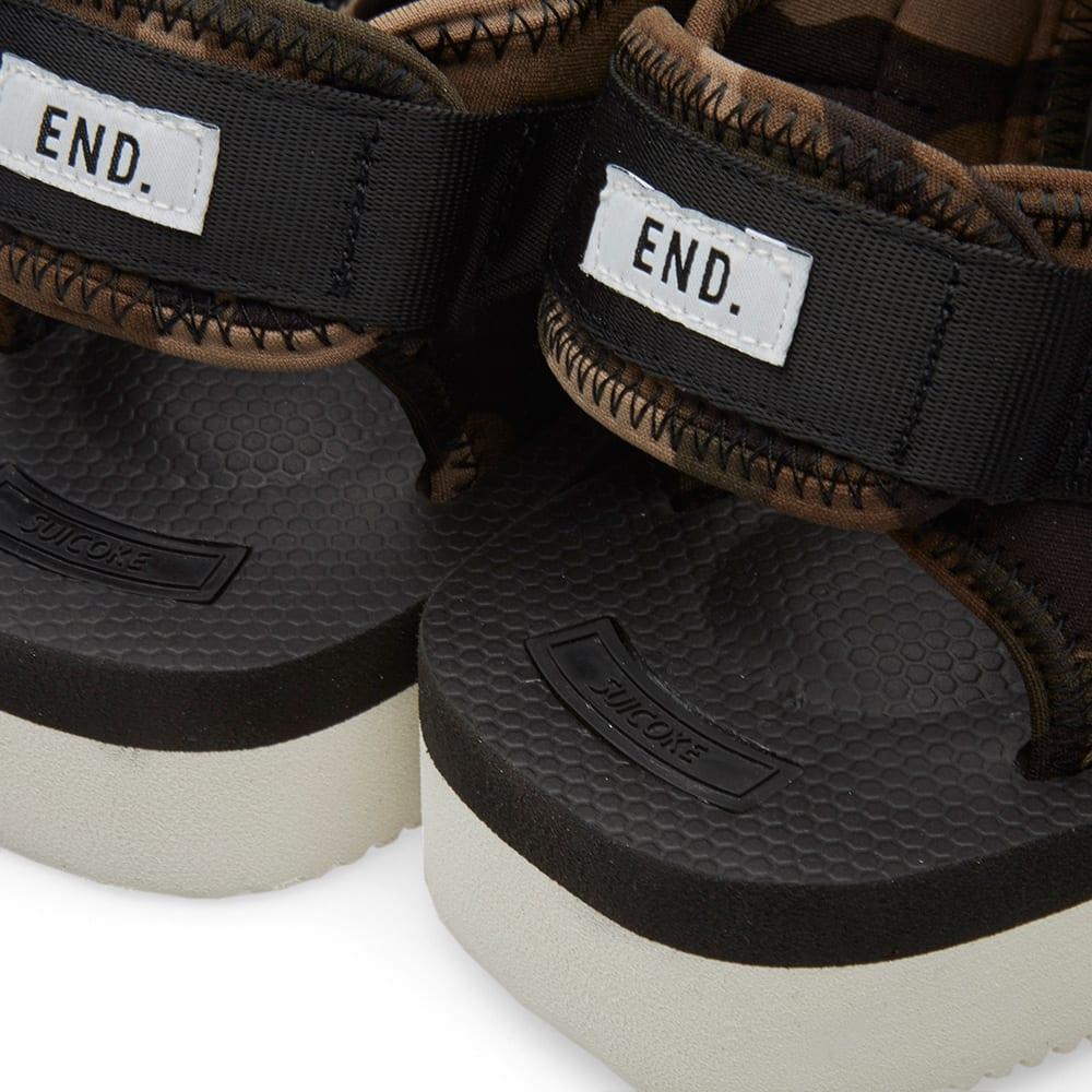901c9eae6fb3 END. x Suicoke KISEE-V Sandal  Disruptive Pattern Material  Black ...