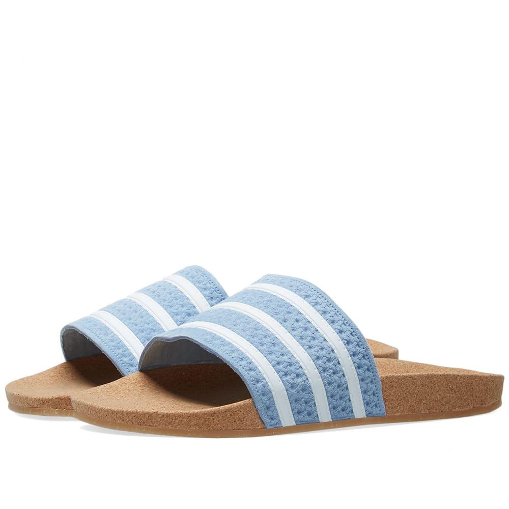 Cork Adilette Slider Sandals In Blue - Blue from ASOS