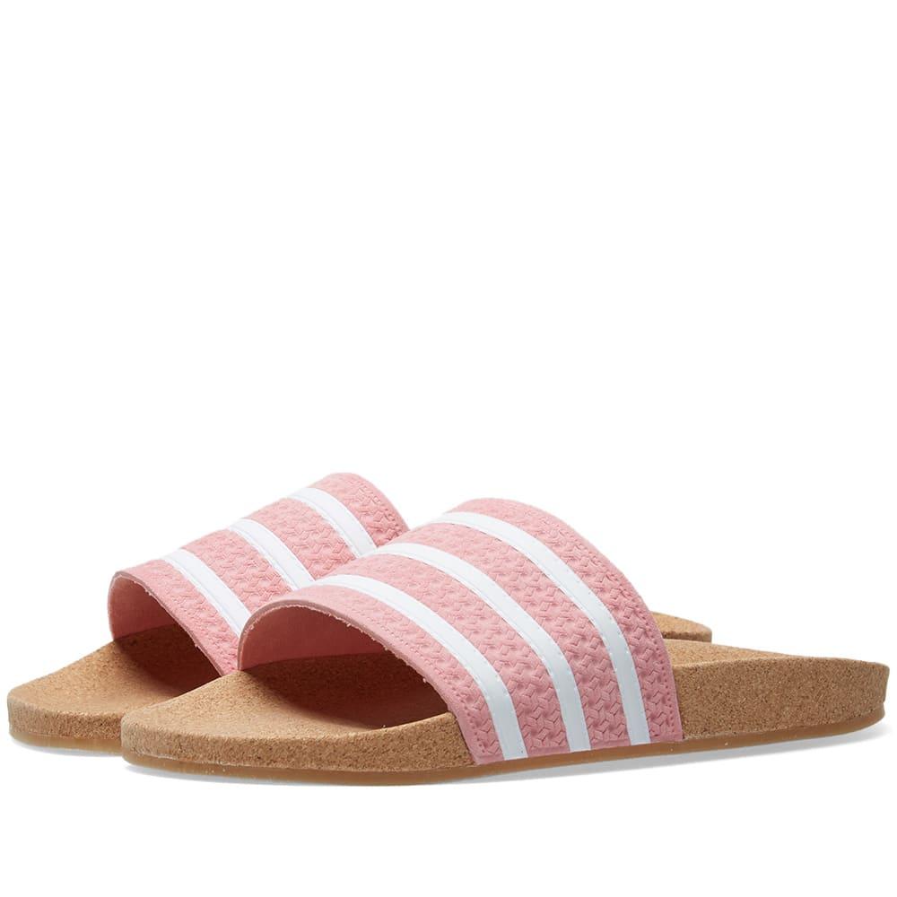 Cork Adilette Slider Sandals In Pink - Pink from ASOS