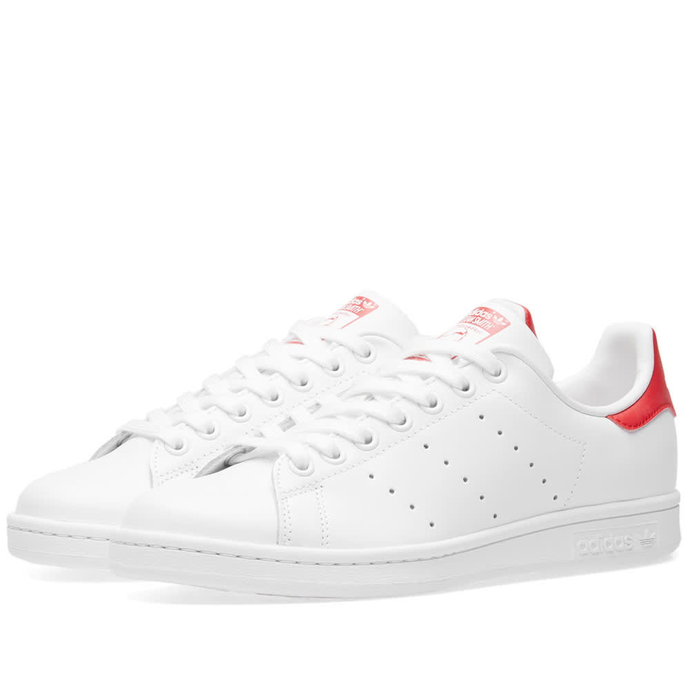 53446e36af5 Adidas Stan Smith Running White   Collegiate Red