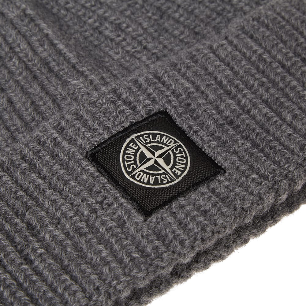 0ef254364 Stone Island Rib Knit Patch Logo Beanie