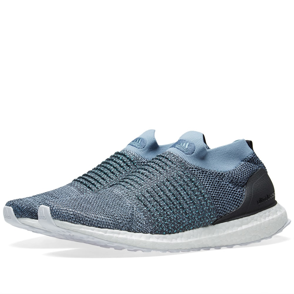 a9f7e958a62 Adidas Ultra Boost Laceless Parley Raw Grey