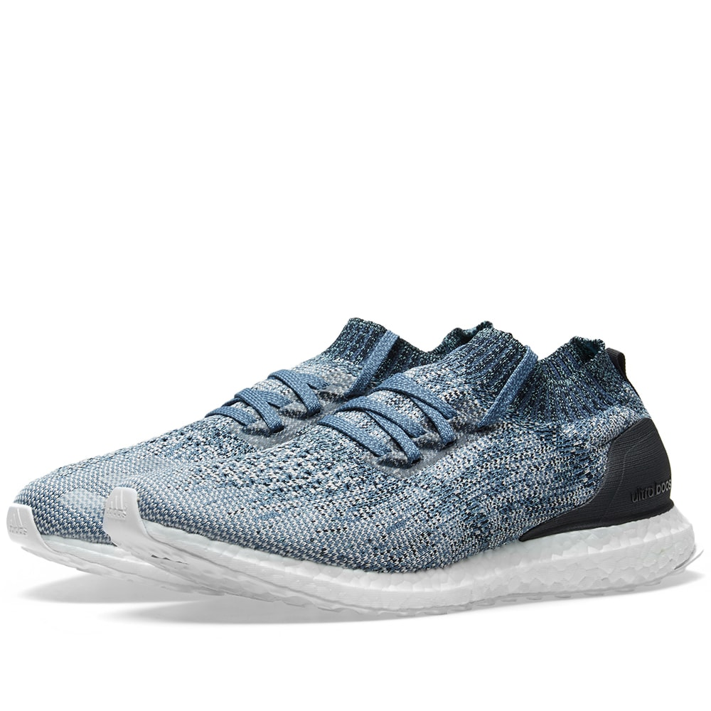 timeless design 15fd5 aa043 Adidas Ultra Boost Uncaged Parley Raw Grey, Chalk Pearl   Blue   END.