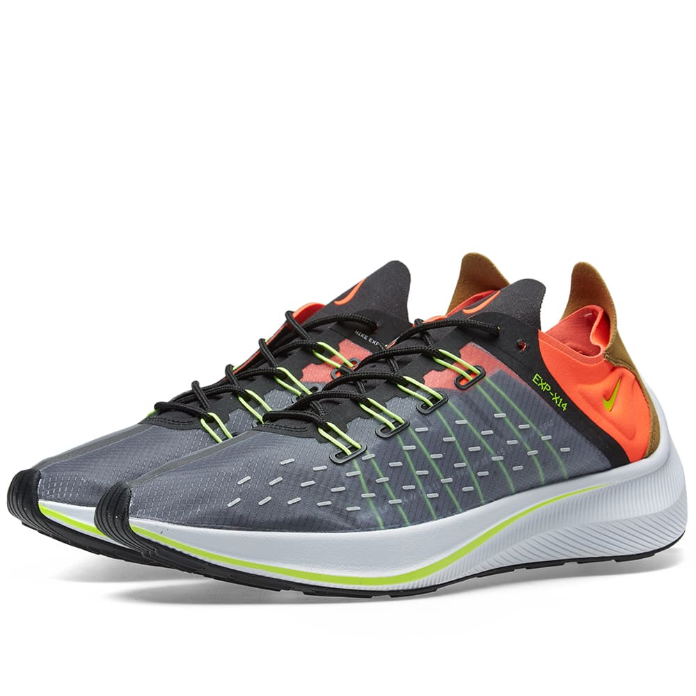 NIKE Men'S Exp-X14 Casual Sneakers From Finish Line in Grey