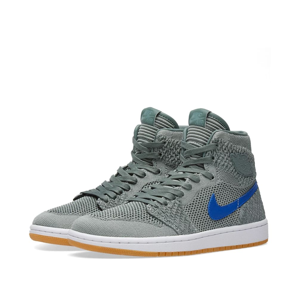 sale retailer d13b1 cb3f4 Air Jordan 1 Retro High Flyknit BG Clay Green, Hyper Cobalt   Gum   END.