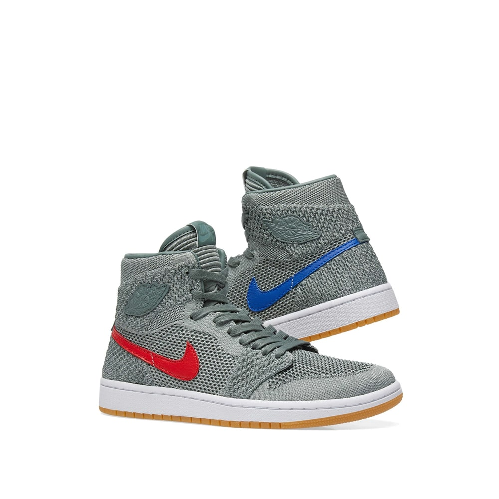 check out d5391 25b3e Air Jordan 1 Retro High Flyknit BG. Clay Green, Hyper Cobalt ...