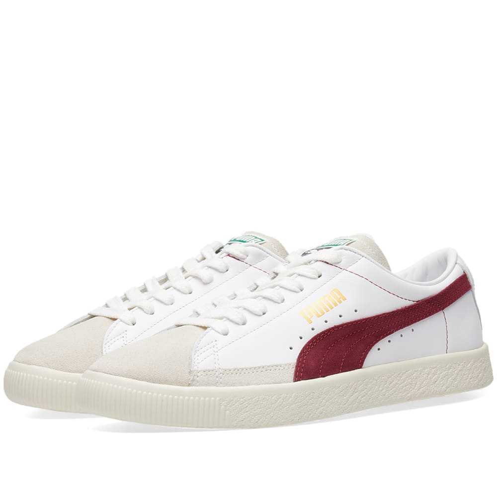 7f93717ee479 Puma Basket 90680 White   Pomegranate   Team Gold
