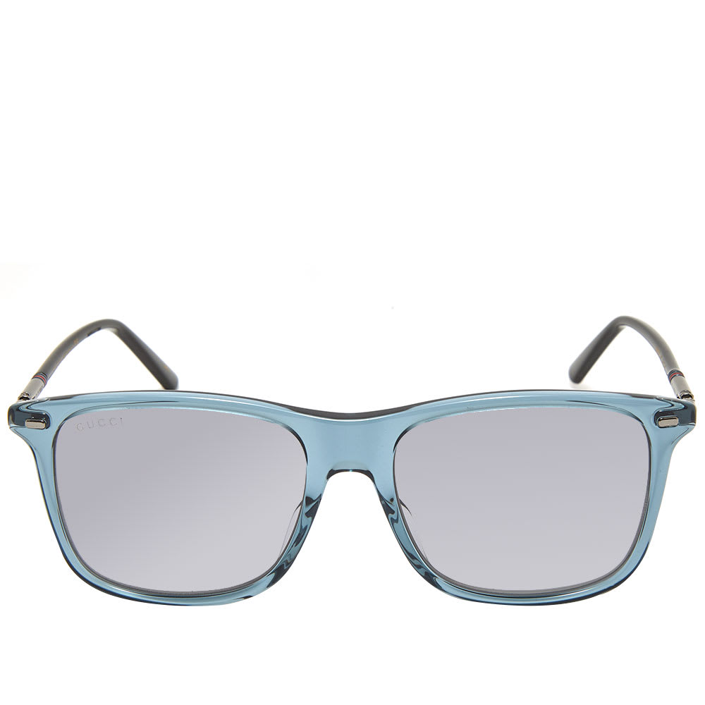 aedf46d3f Gucci Cylindrical Web Sunglasses Grey & Ruthenium | END.