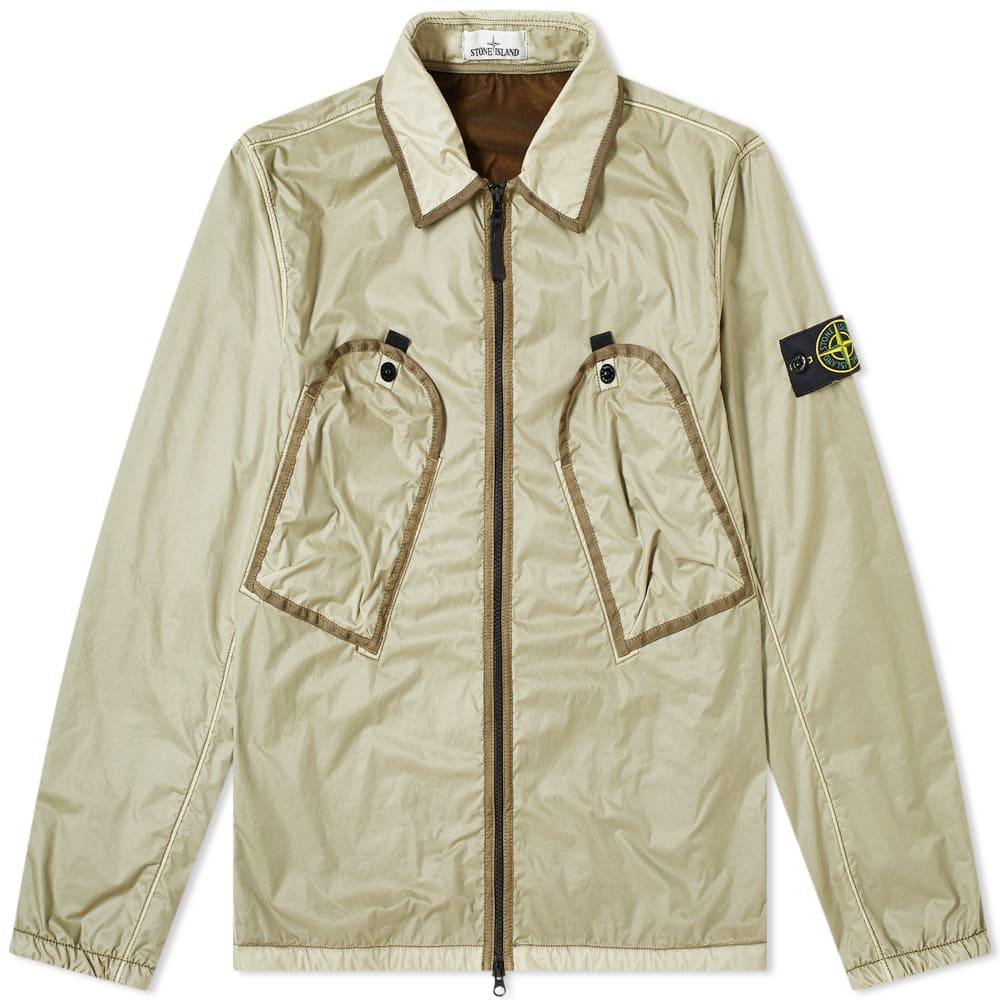 ffa47fe3cae Stone Island Lamy Flock Pocket Zip Overshirt
