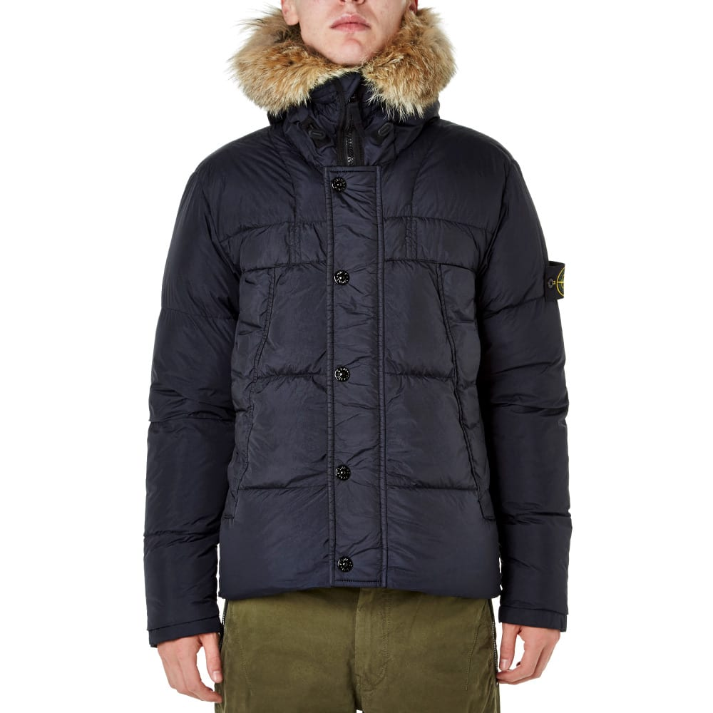 Stone Island Garment Dyed Crinkle Reps NY Down Jacket (Navy)