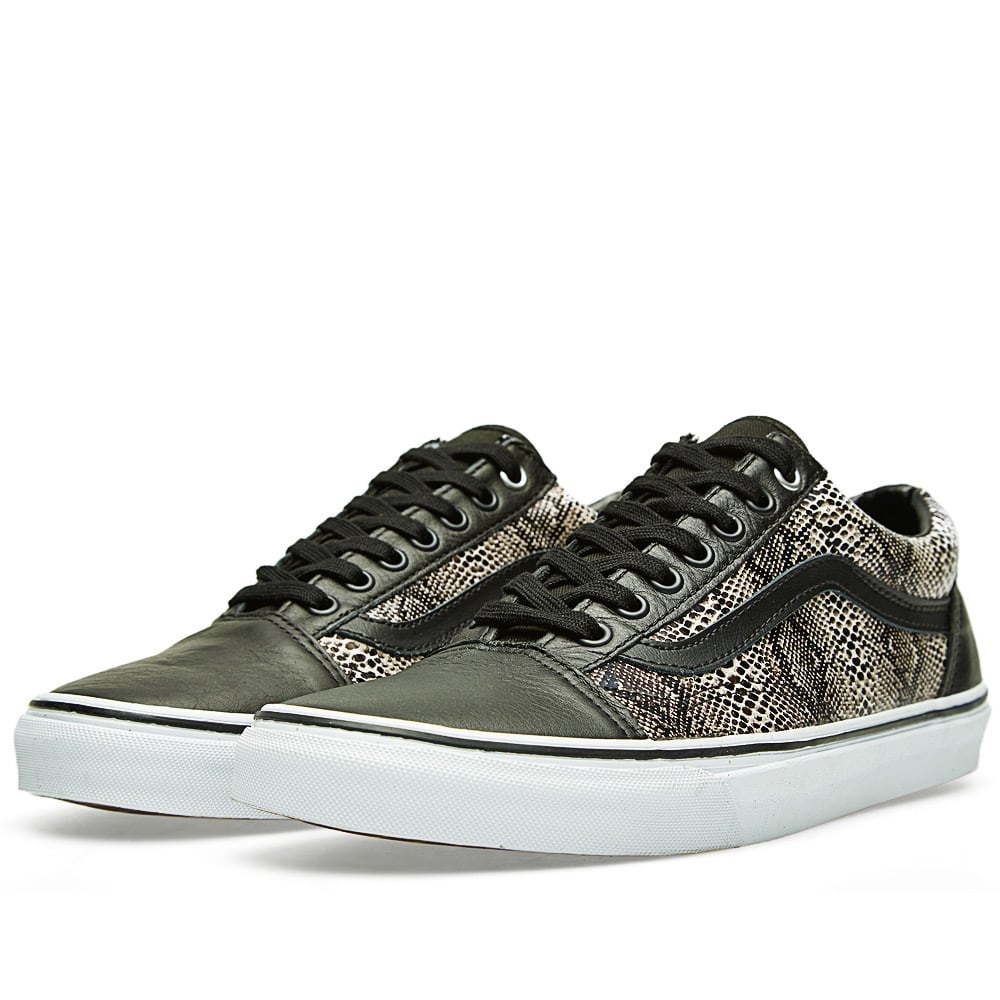 vans old skool black snake khaki. Black Bedroom Furniture Sets. Home Design Ideas