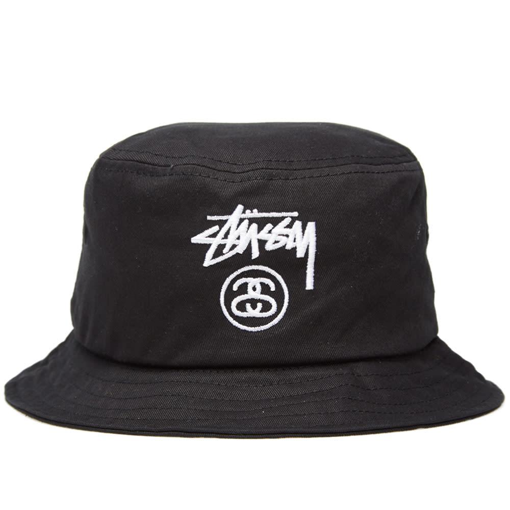 Stussy Stock Lock FA14 Bucket Hat (Black)