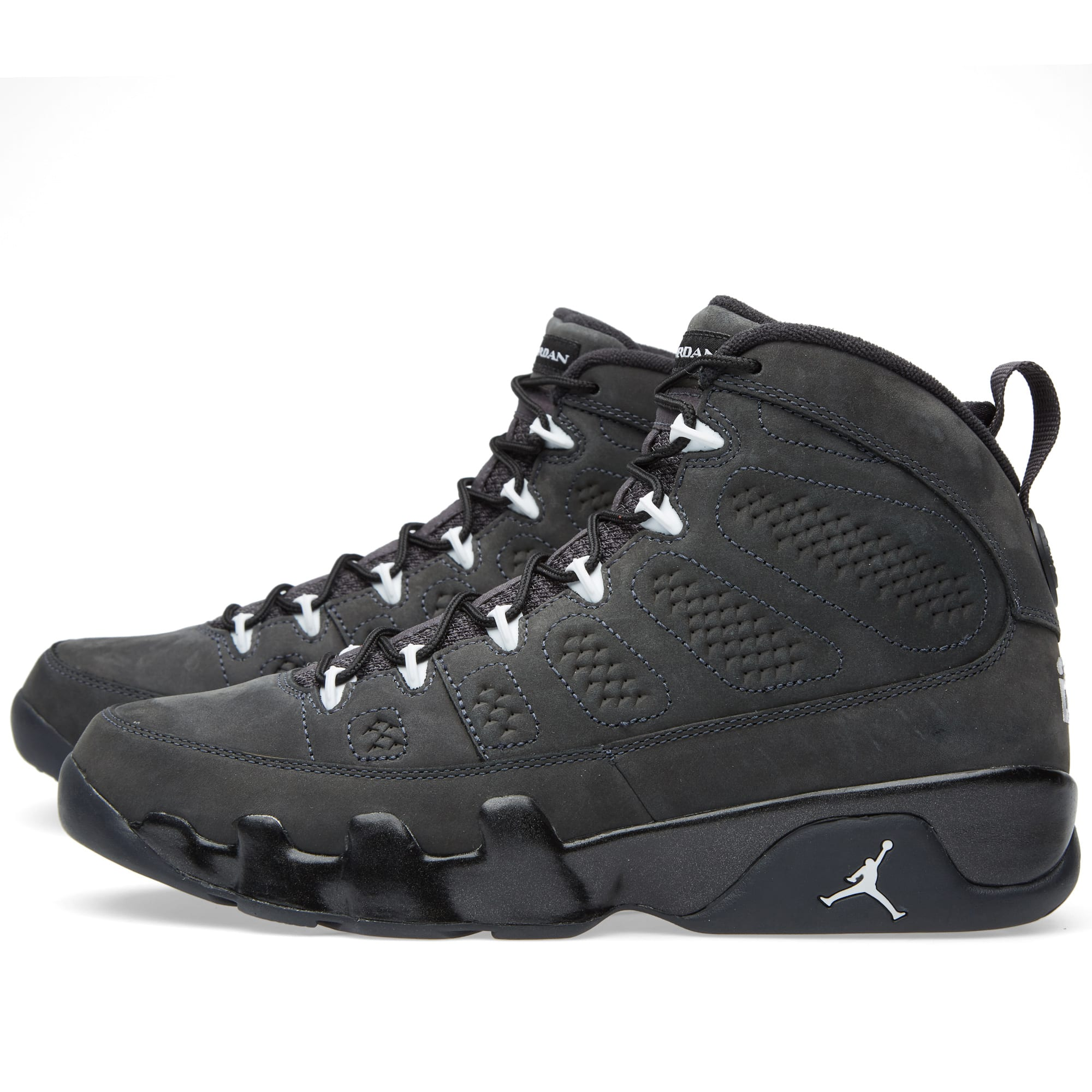 finest selection 7cdfa 345e3 Nike Air Jordan 9 Retro Anthracite, White   Black   END.