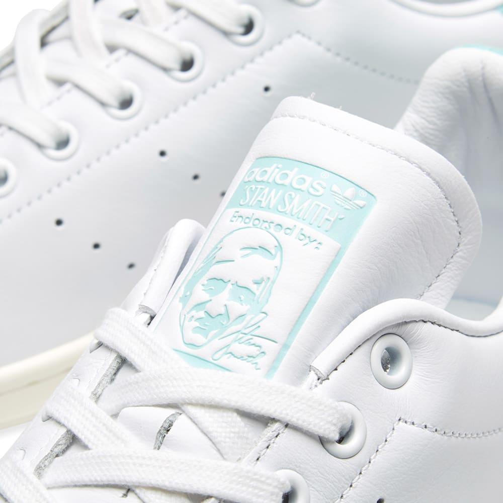 Adidas Stan Smith White \u0026 Energy Aqua