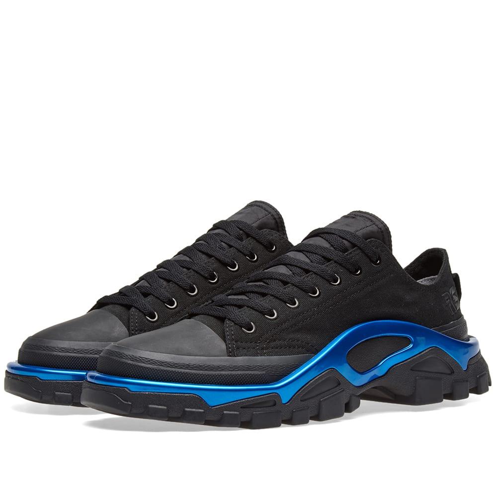 ae339cd30904cf Adidas x Raf Simons Detroit Runner Core Black   Electric Blue
