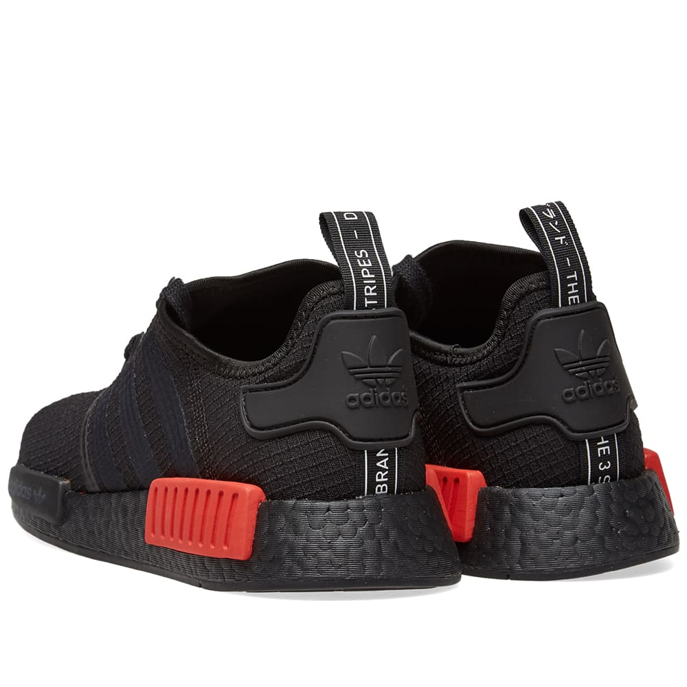 competitive price a0ad7 25243 Adidas NMD R1 Core Black   Lush Red   END.