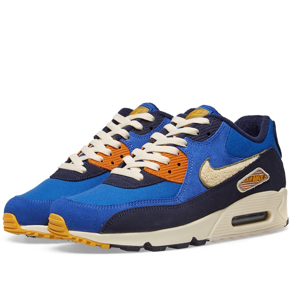 the best attitude d5b85 74987 Nike Air Max 90 Premium SE Game, Cream, Green   Blue   END.