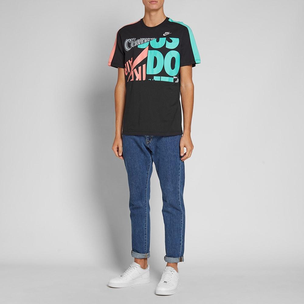 free shipping d3e25 c074c Nike  Just Do It  Retro Tee. Black, Sunblush, Menta   White
