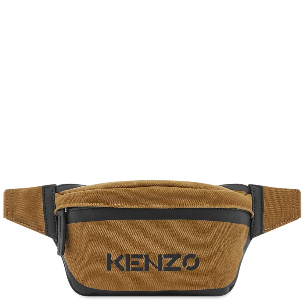 Kenzo Sport Logo Bum Bag In Brown