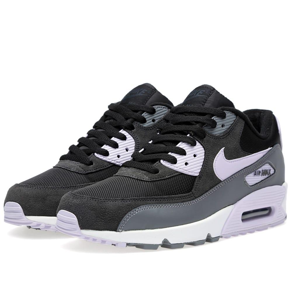 Nike WMNS Air Max 90 Essential Black Grey Violet Frost