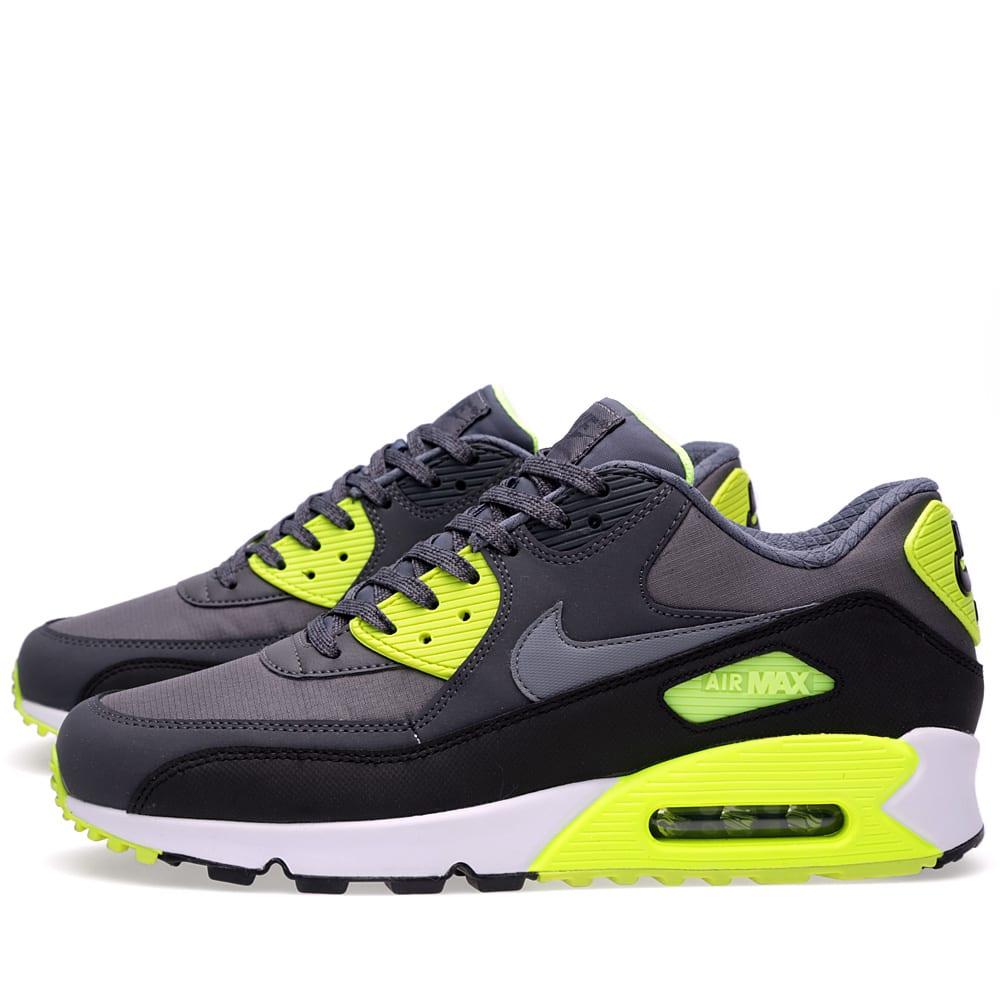 finest selection 422c0 cae9c Nike Air Max 90 Essential Dark Grey, Cool Grey   Volt   END.