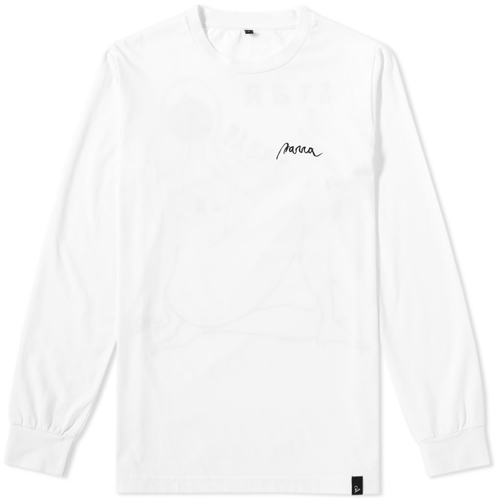 BY PARRA By Parra Long Sleeve Star Struck Tee in White