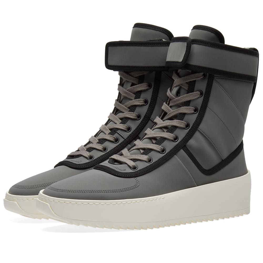 best service c61fe b15b0 Fear Of God Military Sneaker Grey   Black   END.