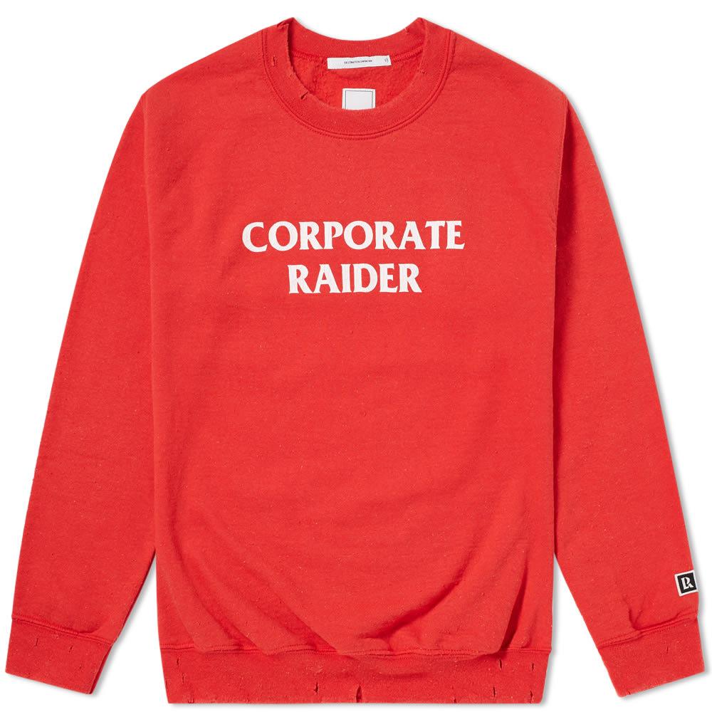 LIBERAIDERS Liberaiders Corporate Raider Crew Sweat in Red
