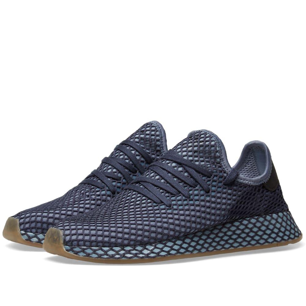 13e79fc870a36 Adidas Deerupt Runner Dark Blue   Ash Blue