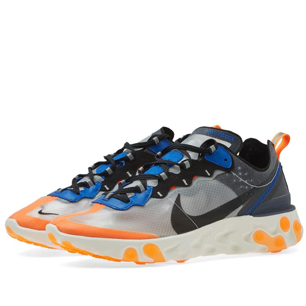 d65a8500ad491 Nike React Element 87 Wolf Grey   Black Thunder