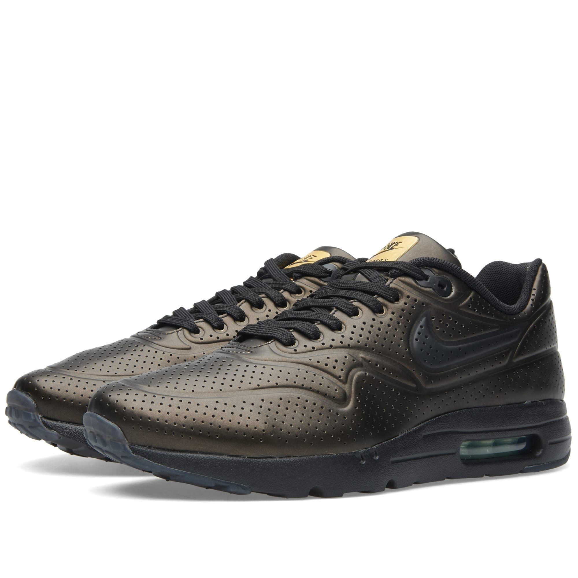 buy online ececa ceebf Nike Air Max 1 Ultra Moire Metallic Gold   Black   END.
