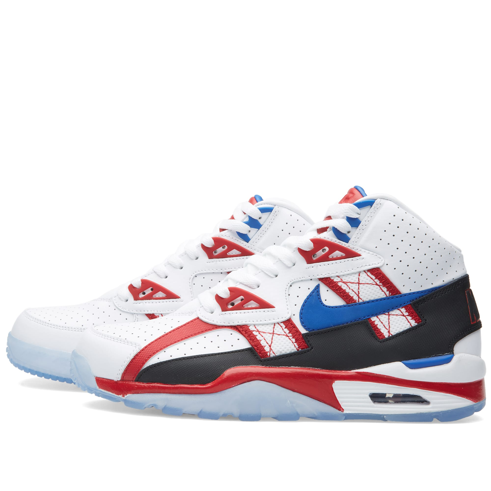 best sneakers a05f8 f7207 Nike Air Trainer SC High LE QS  Bo Knows Dentistry  White, Game Royal   Gym  Red   END.