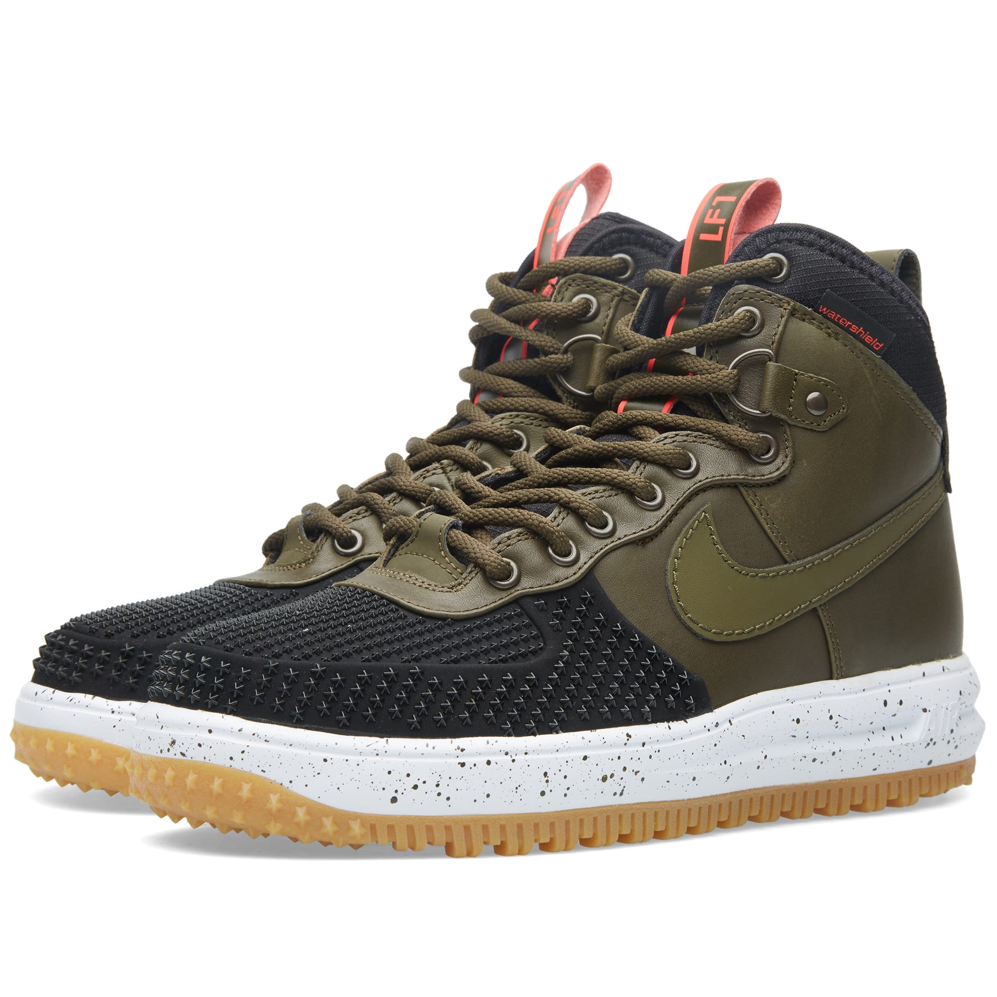 nike lunar force 1 duckboot black dark loden. Black Bedroom Furniture Sets. Home Design Ideas