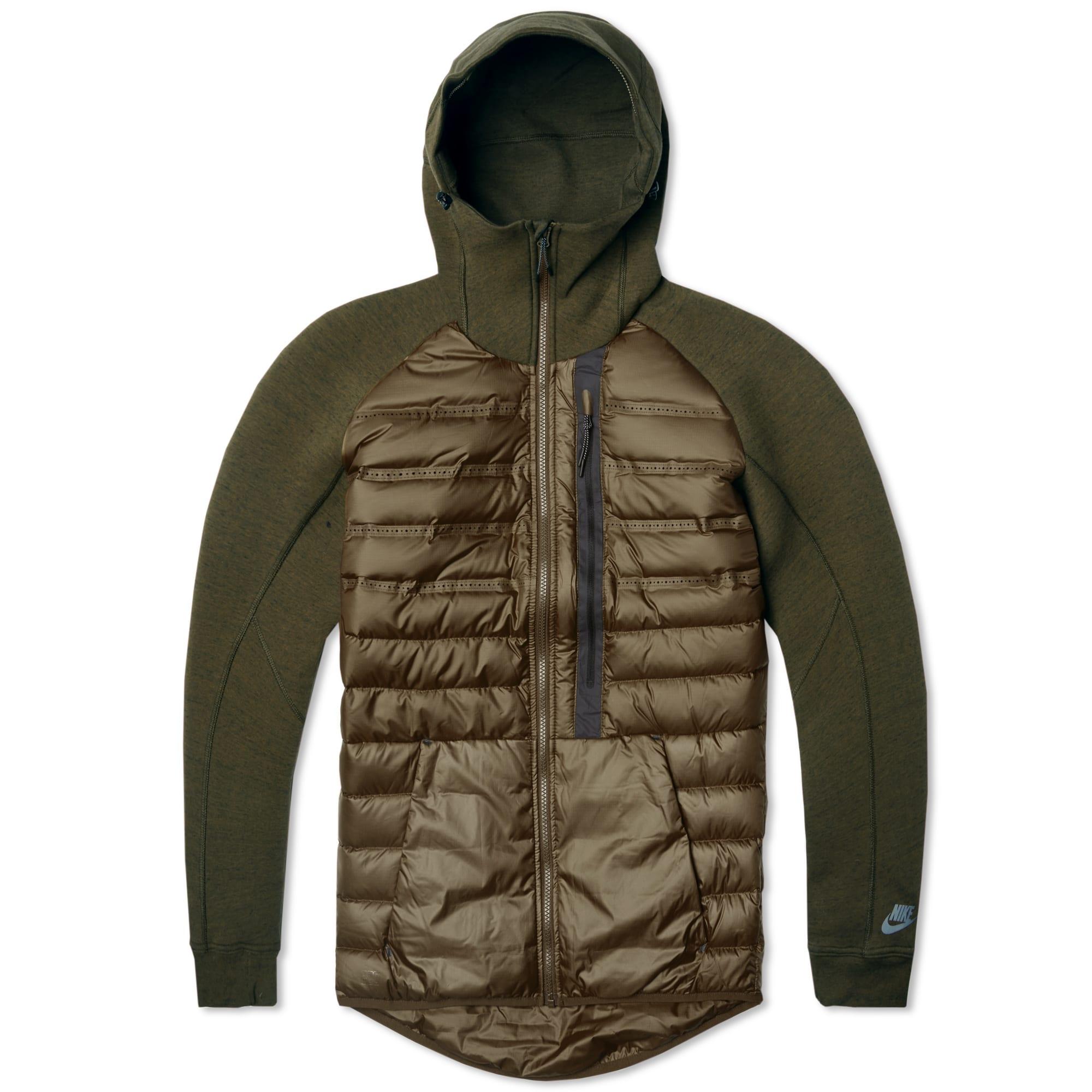 nike tech fleece aeroloft jacket dark loden cargo khaki. Black Bedroom Furniture Sets. Home Design Ideas